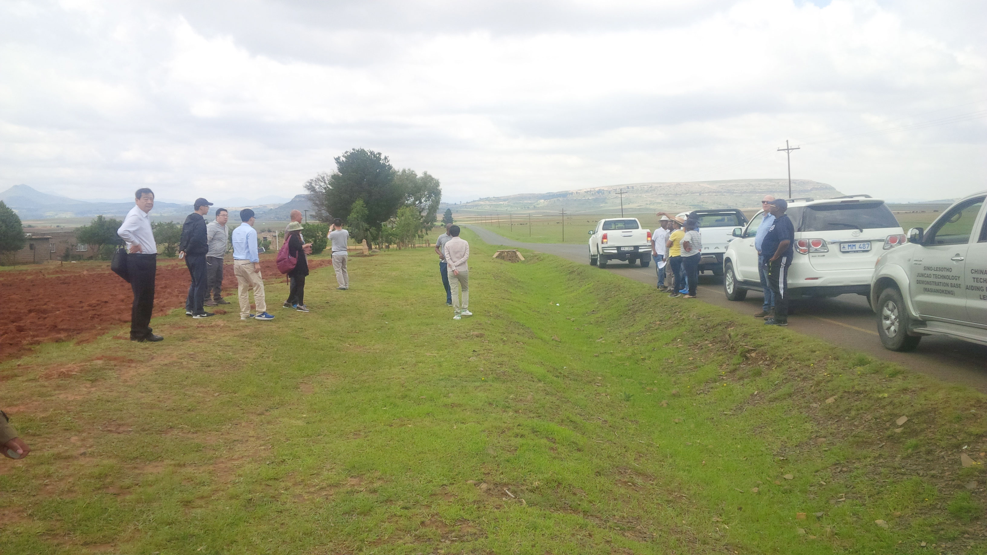 The Ministry field trip to Leribe with Chinese on proposed site for Hlotse Dam, irrigation and industrial site.