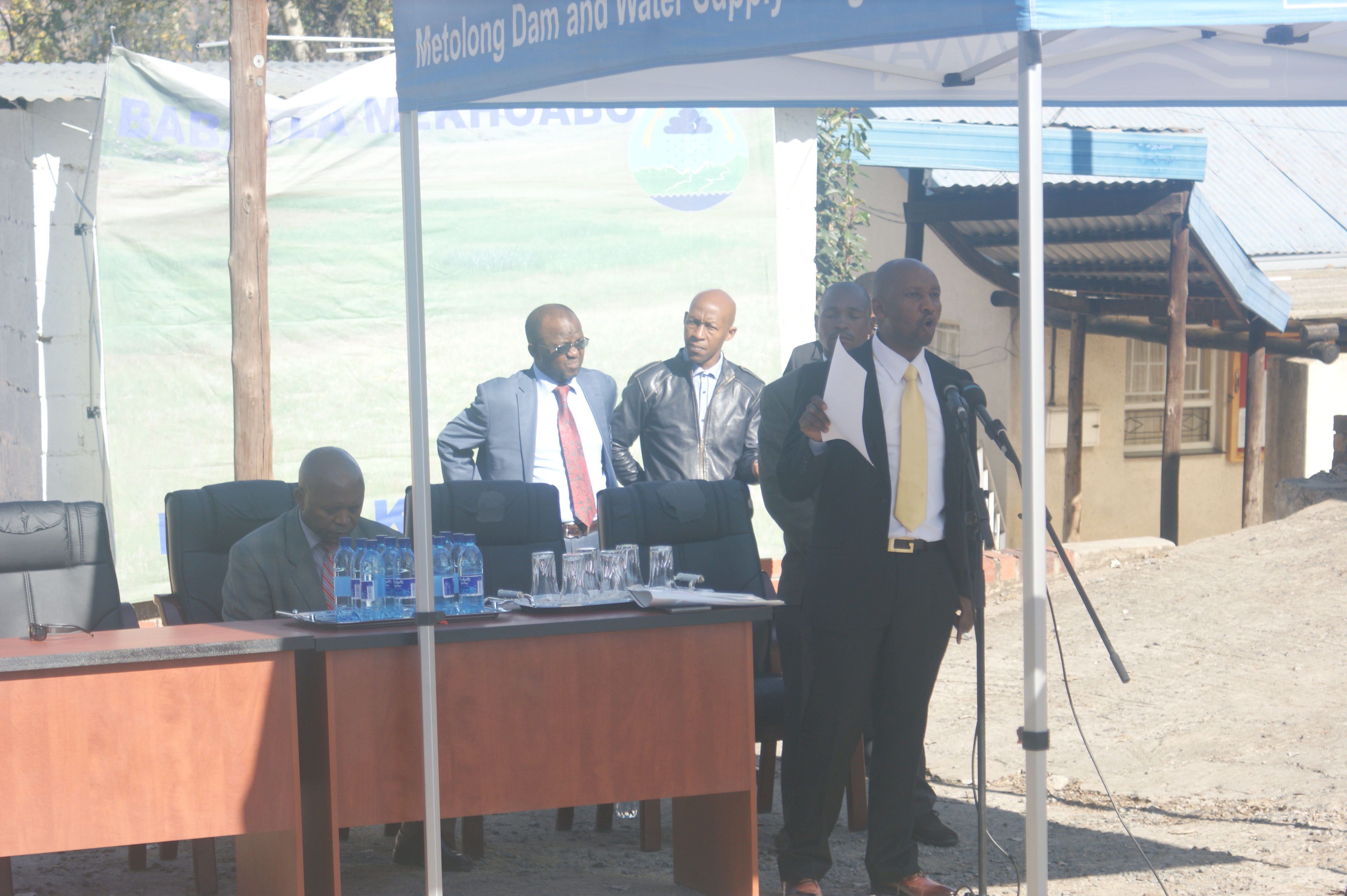 Hon. Minister Ntsekele promises clean water