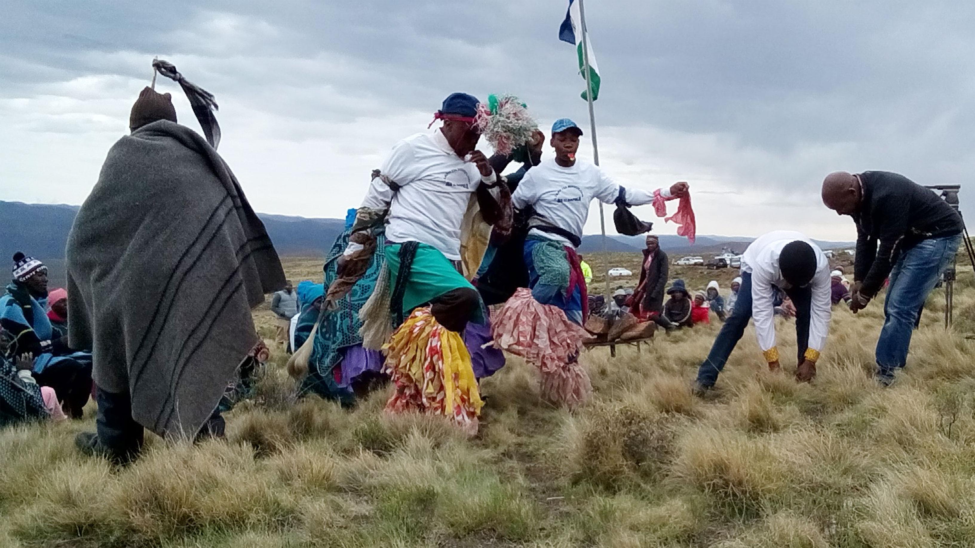 Traditional dances of Batlokoa embracing the closing ceremony of Khubelu Sponges Mokhotlong