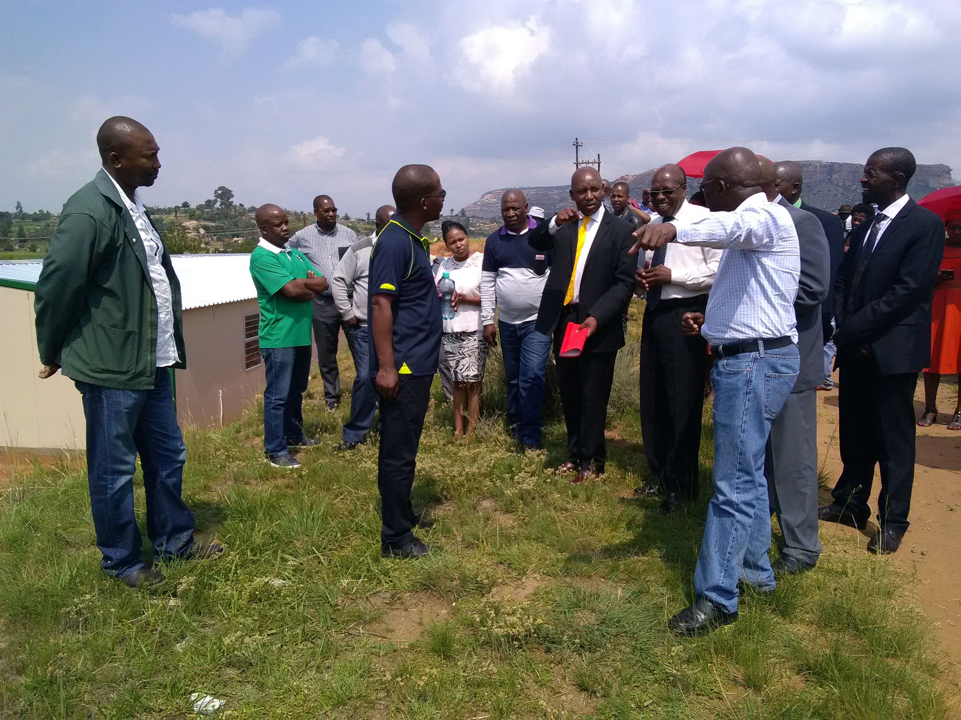 Hon. Minister hands over land to Likileng English Medium School